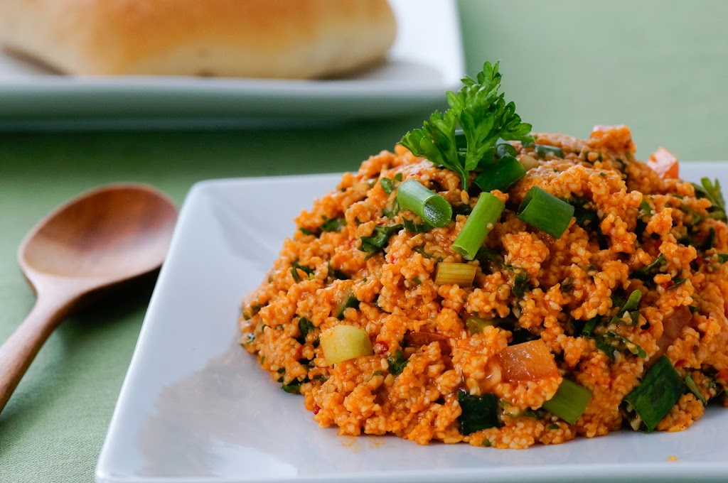 Kisir is a savory bulgur salad that can be a snack or a side dish