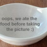 empty bowl as a placeholder